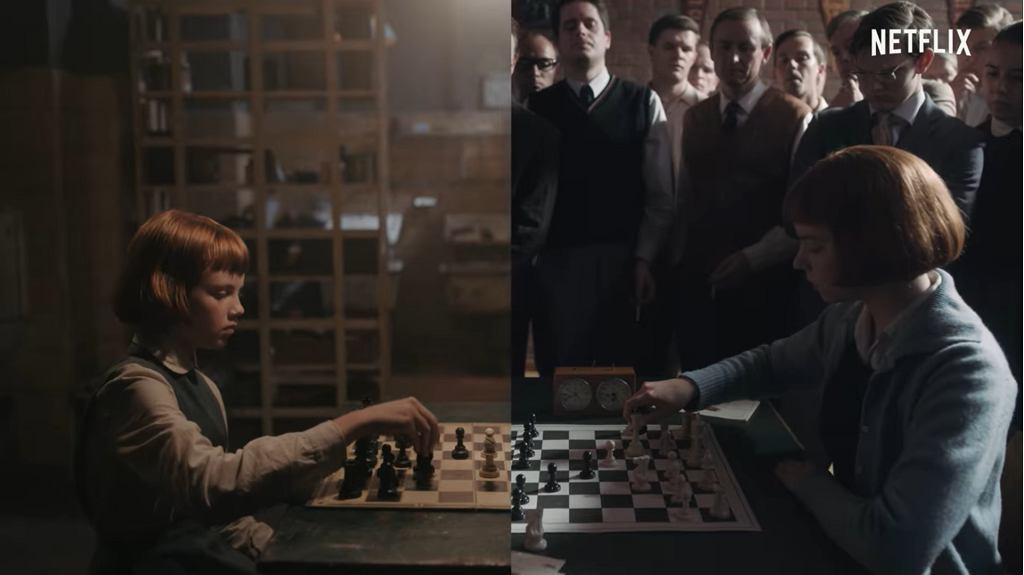 'Gambit królowej' - kadr z zapowiedzi serialu.