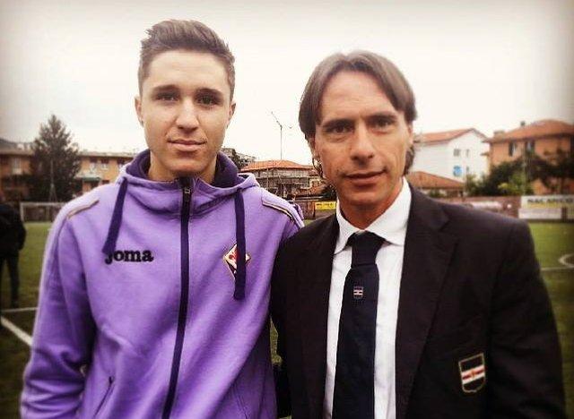 Enrico Chiesa i jego syn Federico