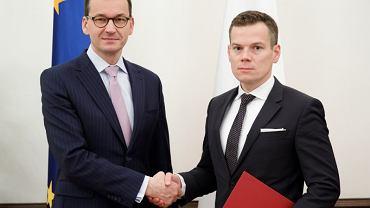 Premier Mateusz Morawiecki powołał profesora Jacka Jastrzębskiego na funkcję przewodniczącego Komisji Nadzoru Finansowego, 23.11.2018 r.