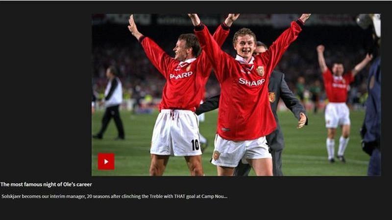 Strona Manchesteru United pospieszyła się z przedstawieniem nowego trenera
