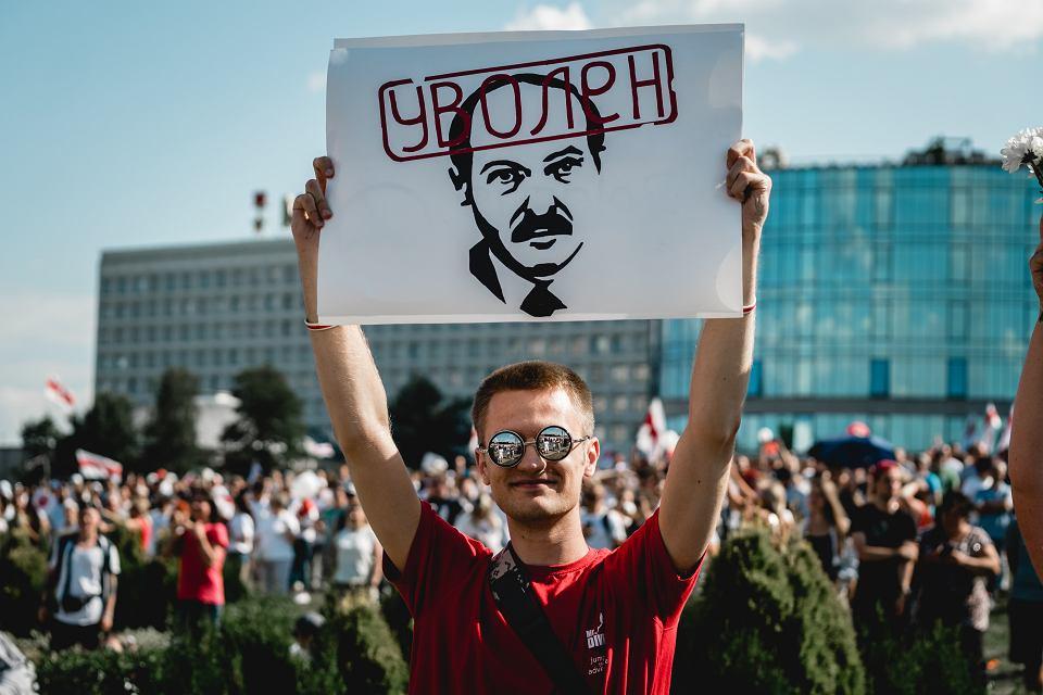 Protest w Mińsku.