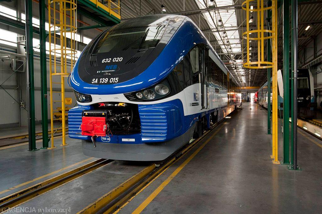 Konferencja prasowa dotyczaca otrzymanej homologacji dla pociagow firmy Pesa , ktore zostaly wyprodukowane dla kolei niemieckich.