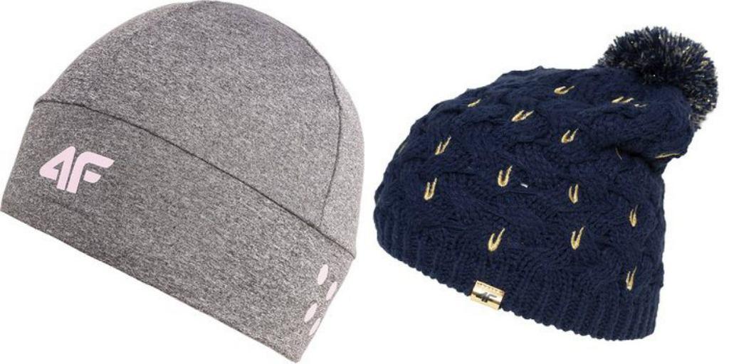 czapki zimowe damskie 4f