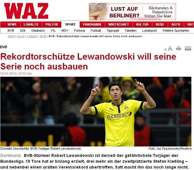 Screen z serwisu dziennika 'Der Westen'