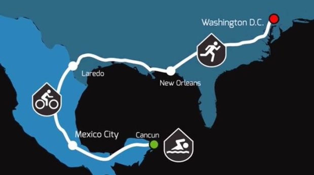 Trasa najdłuższego triathlonu na świecie