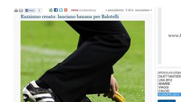"""Screen ze strony internetowej """"La Stampa"""""""