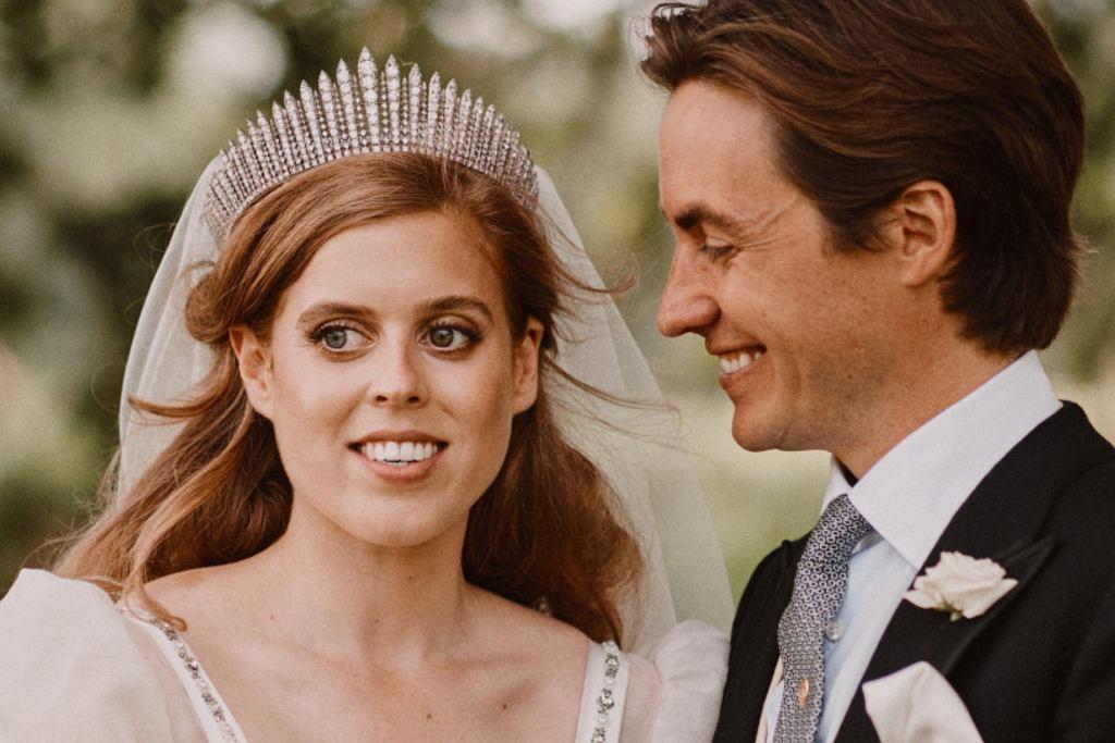 Księżniczka Beatrice z mężem