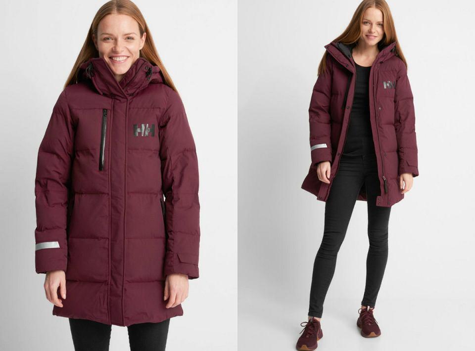 Bordowa kurtka zimowa Helly Hansen