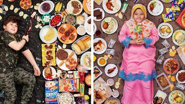 Zdjęcia Gregga Segala przedstawiają dzieci wraz z ich tygodniowym menu