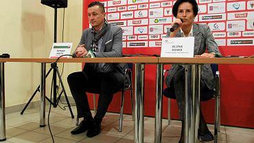 Trener Tomasz Hajto i Alina Sowa