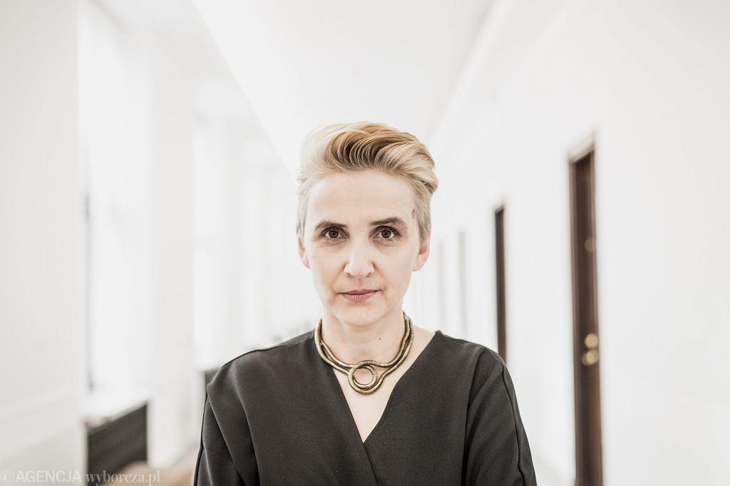 Posłanka Joanna Scheuring-Wielgus. Warszawa, Sejm, 27 lutego 2018