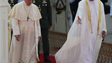 Papież z wizytą w Zjednoczonych Emiratach Arabskich