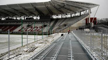 Trybuna dla kibiców gości na stadionie ŁKS