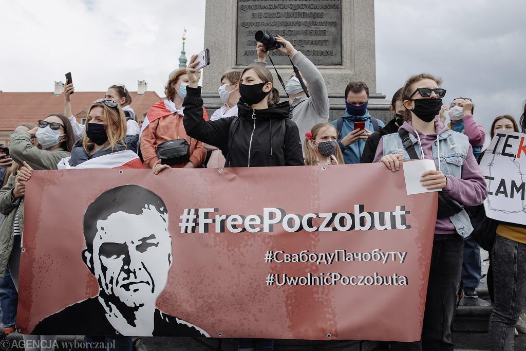 29.05.2021 Warszawa , Plac Zamkowy. Pikieta solidarności z Białorusią .
