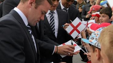 Przylot reprezentacji Anglii