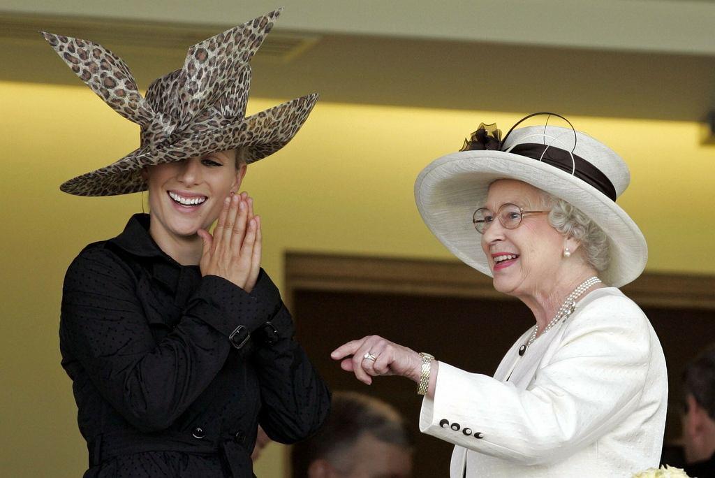Zara Tindall i królowa Elżbieta II