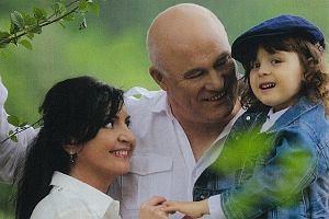 Ryszard Rynkowski z żoną i synem