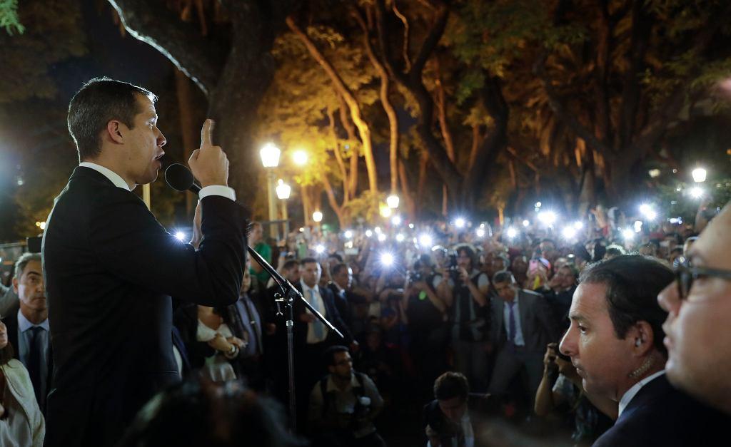 Lider wenezuelskiej opozycji Juan Guaido w Argentynie