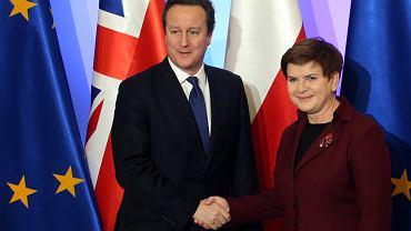 Premier Wielkiej Brytanii David Cameron i premier Polski Beata Szydło.