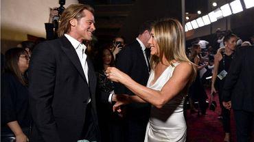 Brad Pitt i Jennifer Aniston za kulisami rozdania nagród SAG