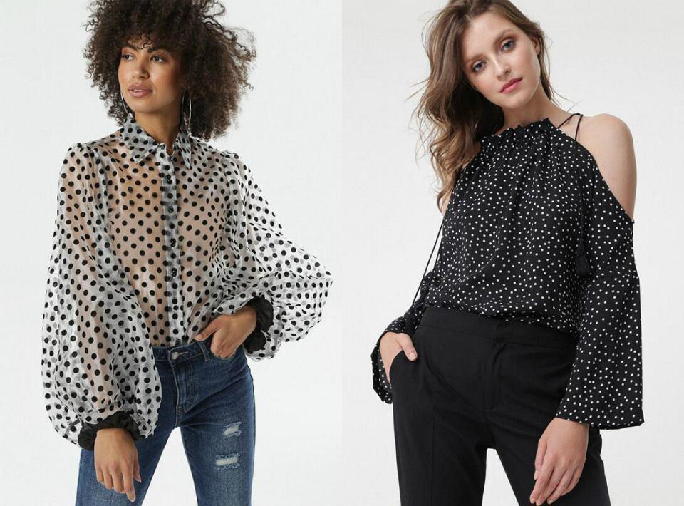 Koszule w grochy z oferty Born2be oraz Renee