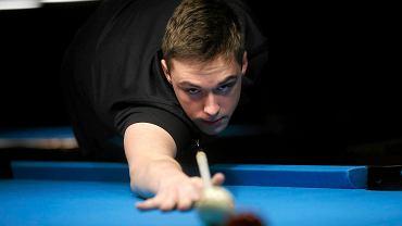 Daniel Macioł, mistrz świata juniorów w bilardzie, na co dzień ćwiczy w Mikołowie