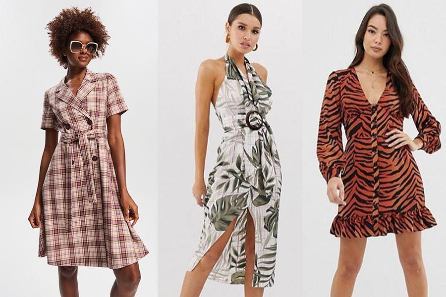 sukienki we wzory na wiosnę