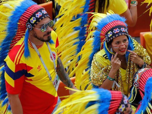 Kibice podczas meczu Kolumbia - Japonia