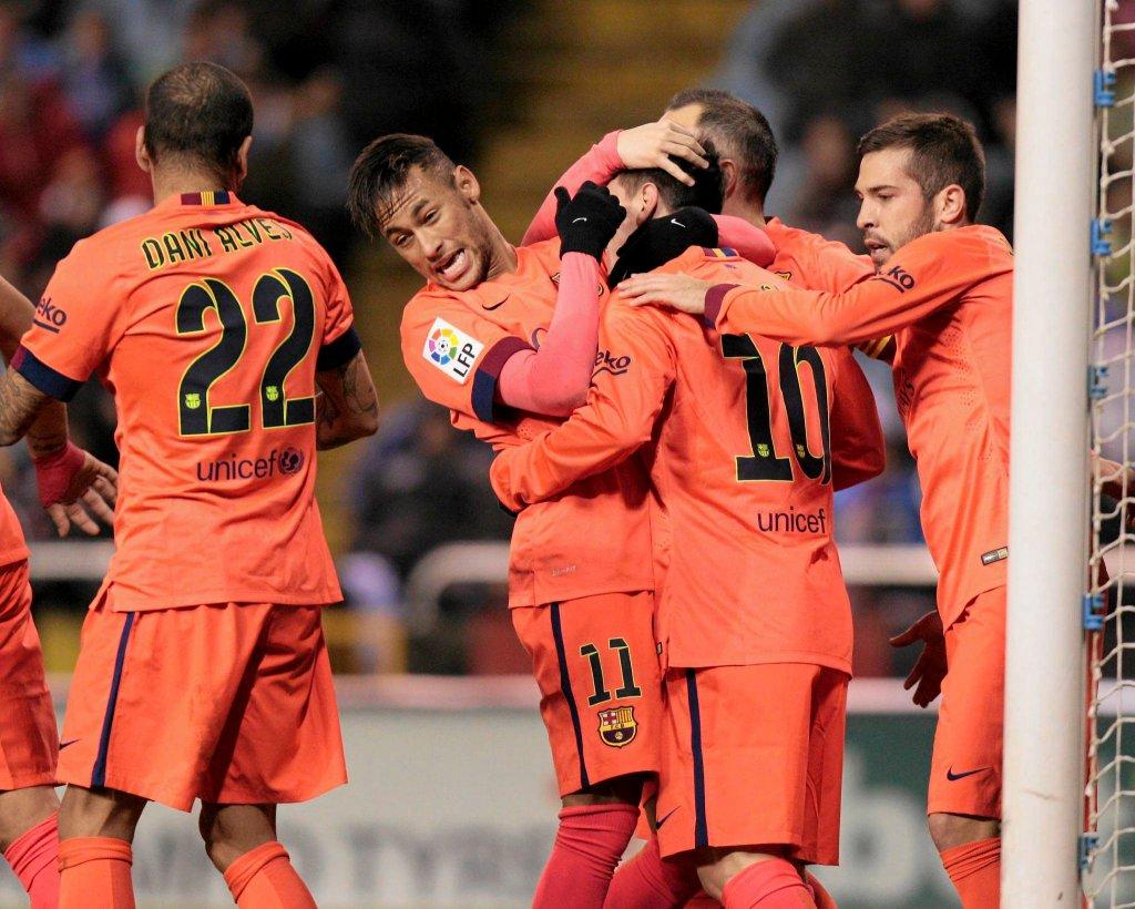 Primera Division. Deportivo - Barcelona 0:4