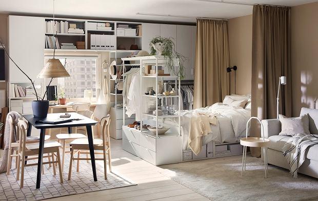 Salon i sypialnia w jednym - pomysły na aranżacje