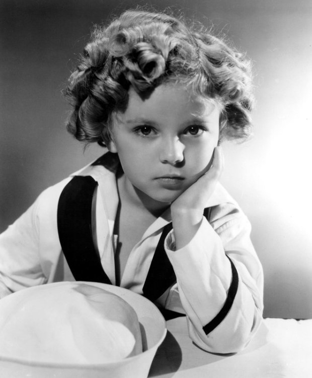 Shirley Temple in a sailor suit