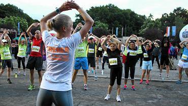 Trening przed startem półmaratonu