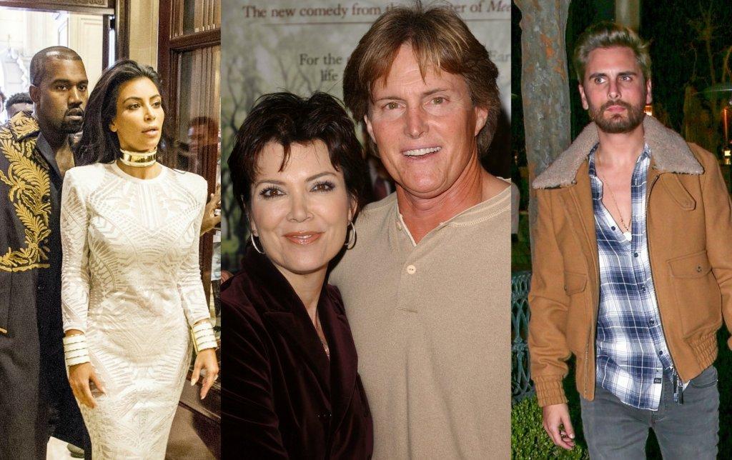 Kanye i Kim Kardashian, Kris i Bruce Jenner, Scott Disick
