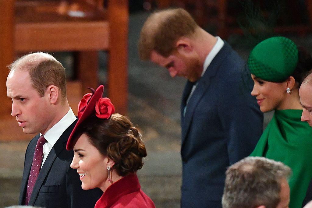książę William, książę Harry, Meghan Markle, księżna Kate