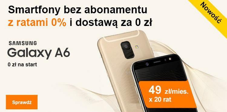 Smartfony na raty 0 proc. w Orange