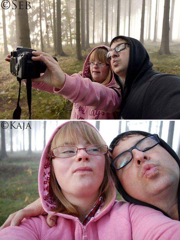 Pojedynek na zdjęcia córki i ojca