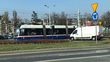 Awaria tramwaju na rondzie Fordońskim