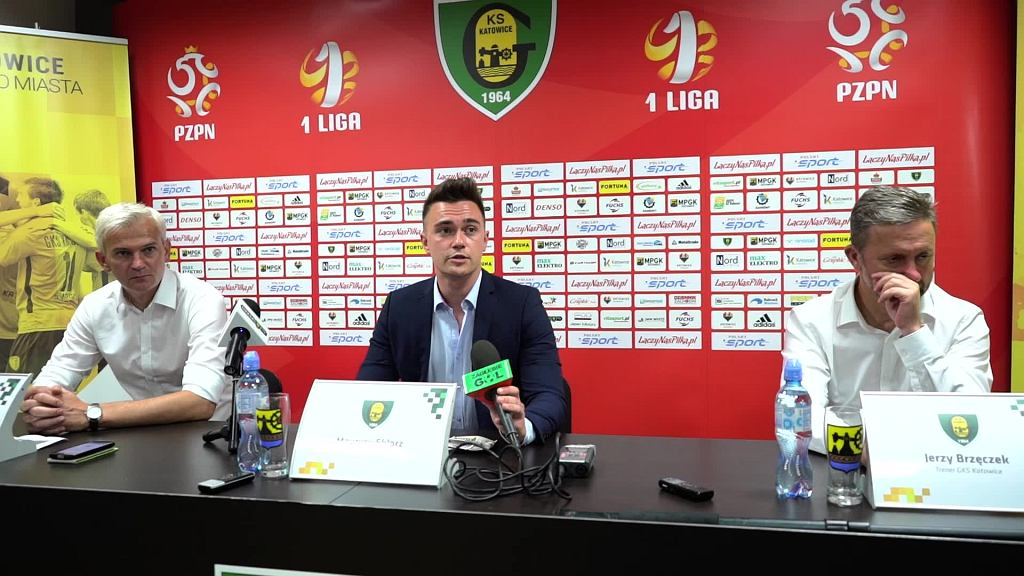 Konferencja prasowa po meczu GKS Katowice - Zagłębie Sosnowiec