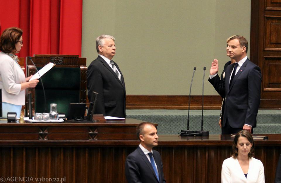 Zaprzysiężeni Andrzeja Dudy przed Zgromadzeniem Narodowym
