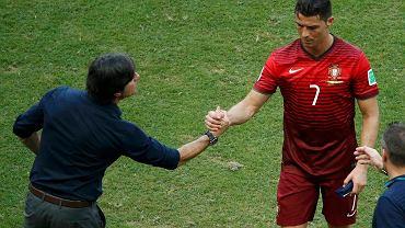 Cristiano Ronaldo podczas meczu z Niemcami