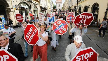Protest przeciwników aborcji