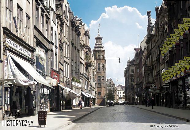 Zdjęcie numer 19 w galerii - Zdjęcia przedwojennego i powojennego Gdańska w kolorze. Zieleń drzew i czerwone cegły Bazyliki Mariackiej