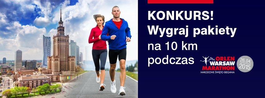 Konkurs przed biegiem na 10 km w ramach Orlen Warsaw Marathon