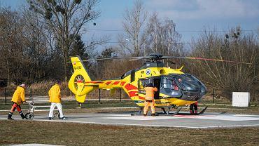 Na miejsce wypadku przyleciał śmigłowiec LPR. Zdjęcie ilustracyjne