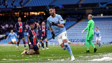 Riyad Mahrez. Bohater wieczoru strzelił oba gola dla Manchesteru City
