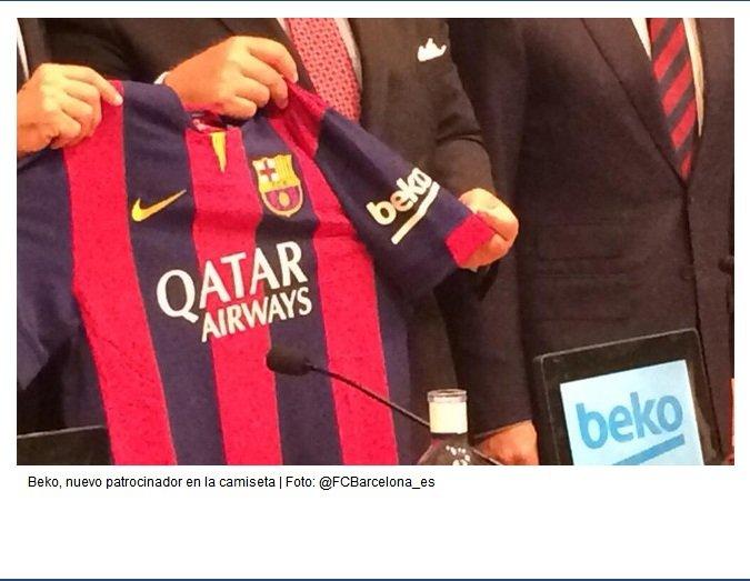 Na koszulki Barcelony trafiło logo firmy Beko