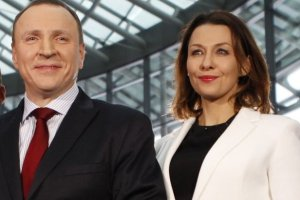 Jacek Kurski i Anna Popek