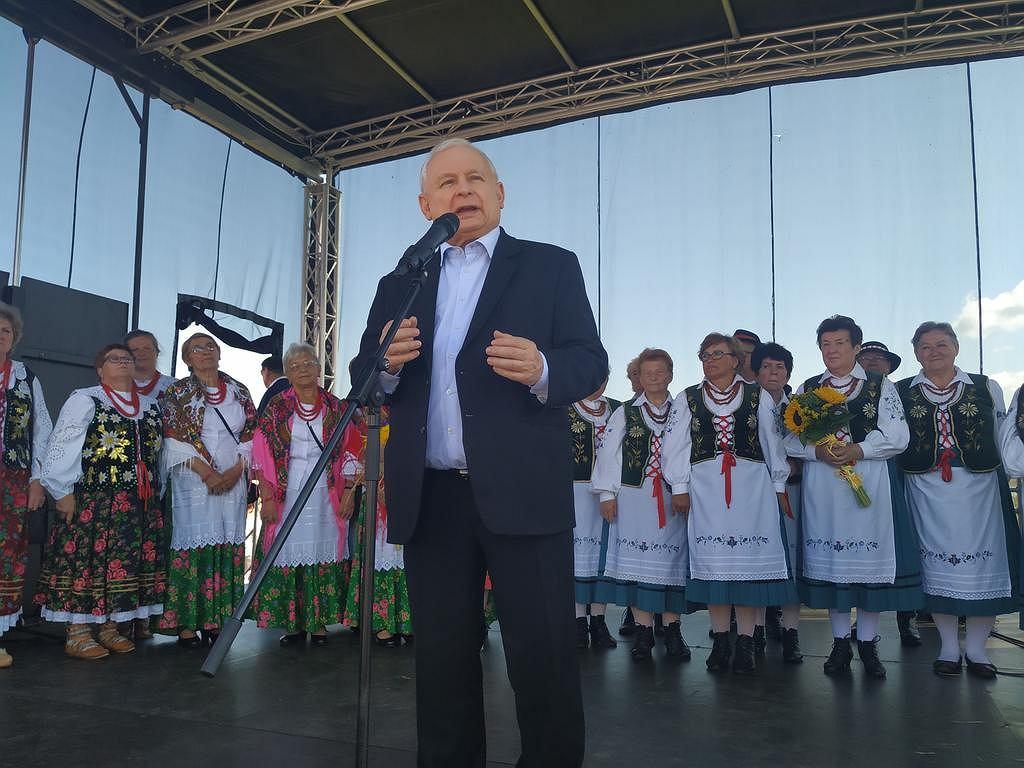 Jarosław Kaczyński w Dygowie