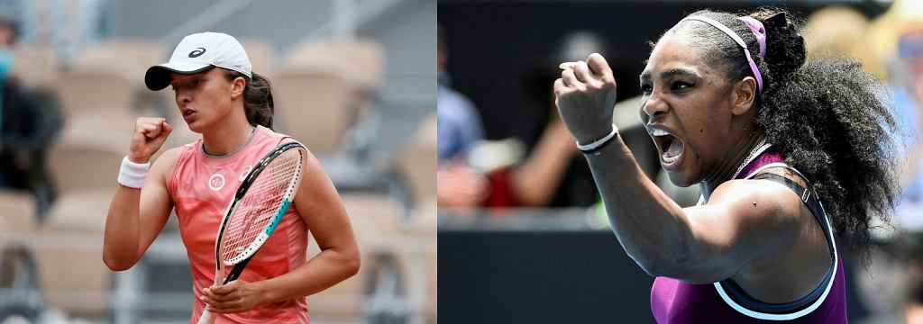 Iga Świątek i Serena Williams