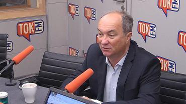 Włodzimierz Czarzasty w studiu TOK FM.